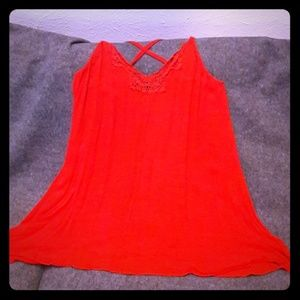 Free people intimately size s red slip dress